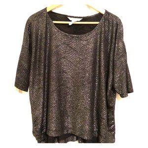 BCBG high low light weight metallic blouse